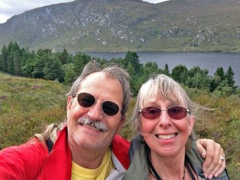 Selfie of Al & Batz in front of Glenveagh Lake, Ireland