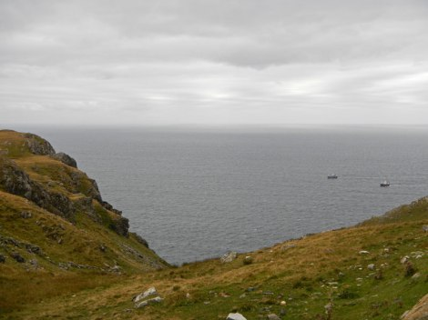 looking out at the ocean from Slieve League, Ireland