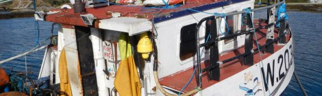 Fishing boats at a dock in Eyeries, our turn-off for Castletownbere, Ireland