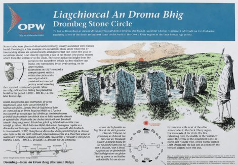 Drombeg Stone Circle Notes
