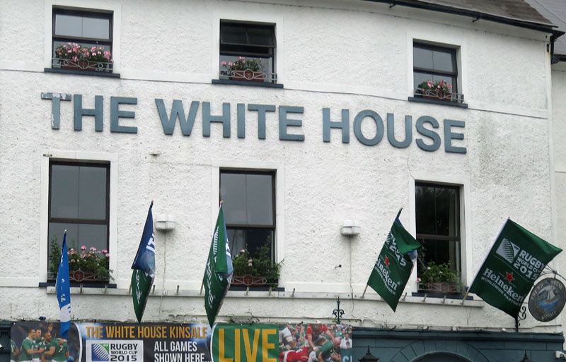 Our B and B in Kinsale was next to the White House