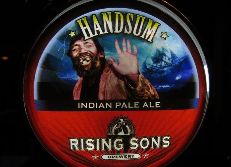 At Kinsale's Hamlet's Pub I had a Handsum IPA beer