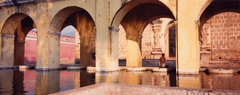 Golden arches in Antigua, Guatemala