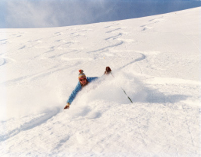 Skiing the Rocky Mountains was known as 'steep & deep'