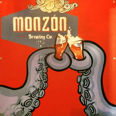 Monzón Brewing Co in Puerto Vallarta uses an octopus on all its labels.