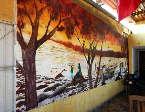 Mural in a restaurant in Lazaro Cardenas, Mexico