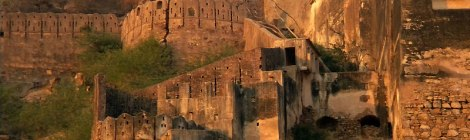 Bundi Fort looking spectacular in the evening light
