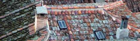 Tiled roofs in Segovia, Spain