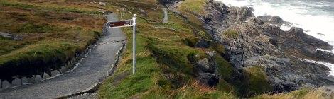 Trail at Malin Head in Ireland