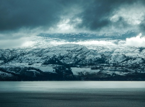 Okanogan Lake in the winter