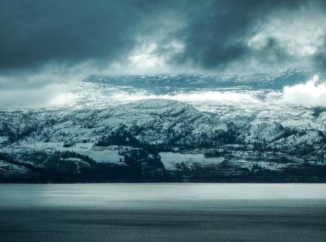 Okanogan Lake in the winter