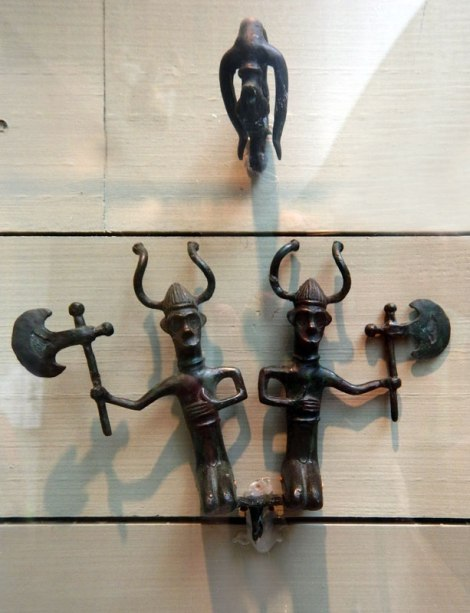 metal figurines of the bronze age people in Tanum