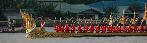 Royal Barge procession in Bangkok to mark the 80th birthday of King Bhumibol