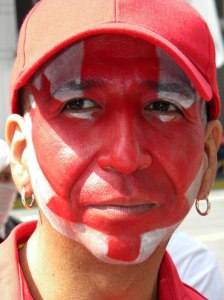 wear red and paint a giant maple leaf on your face for Canada Day on July 1