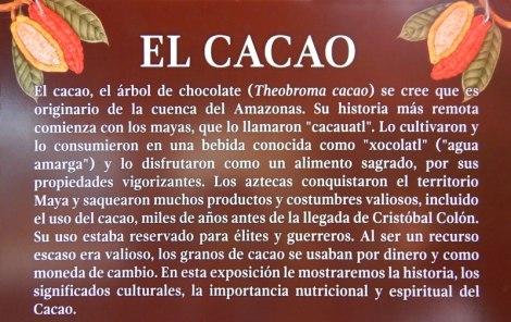 Cacao Sign in the Puerto Vallarta Botanical Garden