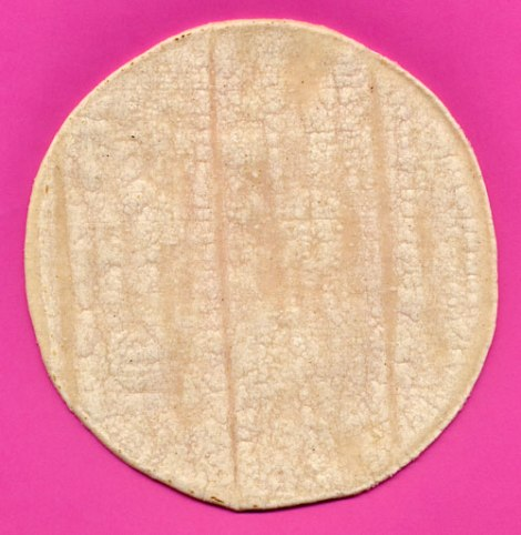 tortilla on a pink background