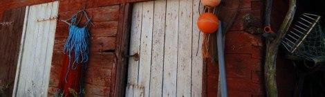 Falu red on wooden fish shack in Grundsund, Sweden