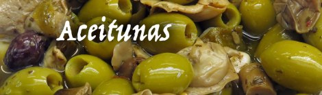 Aceituna (olive). Translating as 'oily one', olives are on offer everywhere in Spain.