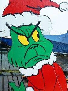 Grinch on boat