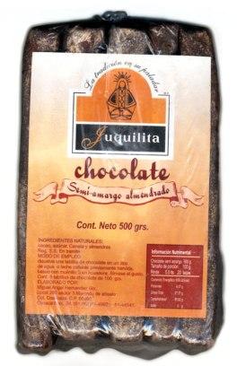 rolos de semi-amargo chocolate almendrado