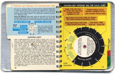 Kodak Guidebook: Existing Light Exposure Dial