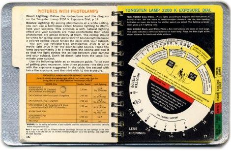 Kodak Guidebook: Tungsten Lamp Exposure Dial