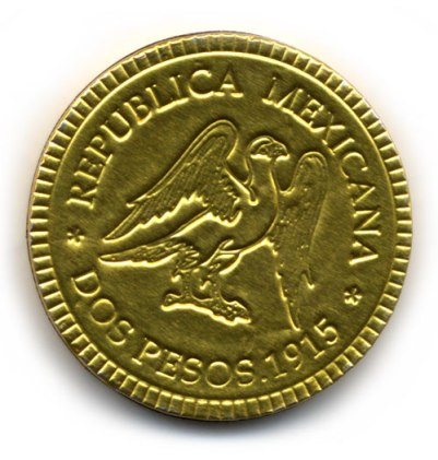 moneda hecho de chocolate